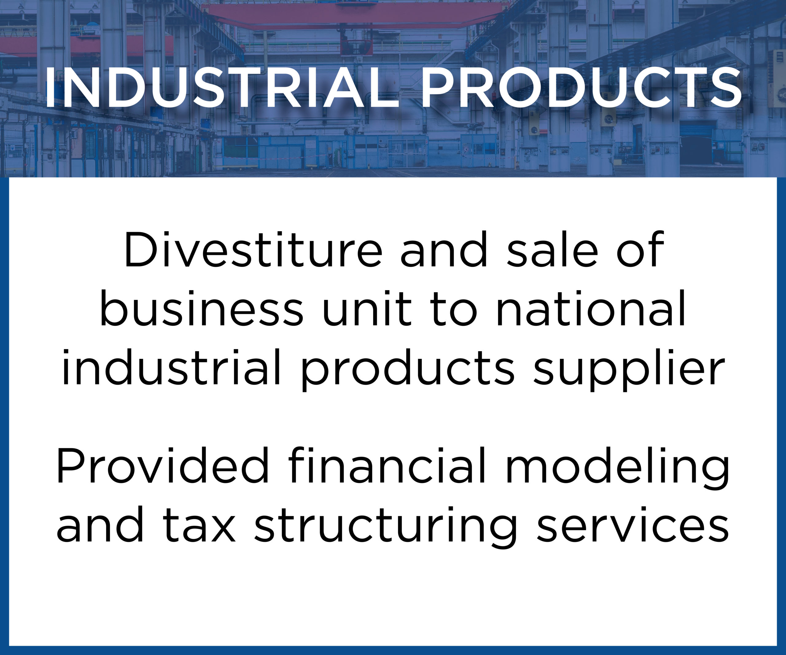 Industrial Products Tombstone